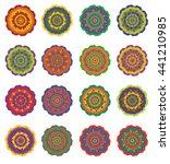 mandala colored set of vector... | Shutterstock .eps vector #441210985
