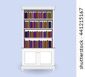 antique classical  bookcase 3d... | Shutterstock .eps vector #441215167