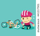 the helmet protects cyclists... | Shutterstock .eps vector #441217501