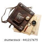 vintage leather bag with a... | Shutterstock . vector #441217675