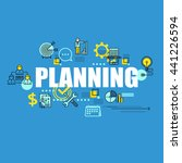 business banner with planning... | Shutterstock .eps vector #441226594