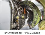 airplane engine side view close ... | Shutterstock . vector #441228385