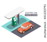 electric charging station for... | Shutterstock .eps vector #441233791