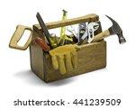 old wooden tool box full of... | Shutterstock . vector #441239509