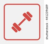 dumbbell icon.