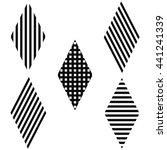 striped rhombus diagonal ... | Shutterstock .eps vector #441241339