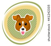 cute dog colorful icon. vector... | Shutterstock .eps vector #441242335
