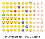 Abstract Funny Flat Style Emoj...