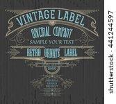 vintage typographic label... | Shutterstock .eps vector #441244597
