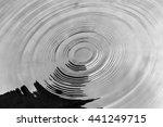 pattern of rain drops falling... | Shutterstock . vector #441249715