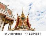 the roof of wat hua lampong ... | Shutterstock . vector #441254854