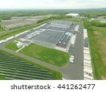 aerial view of distribution hub | Shutterstock . vector #441262477