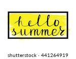 summer calligraphic design... | Shutterstock .eps vector #441264919