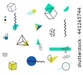 templates with trendy geometric ... | Shutterstock .eps vector #441265744