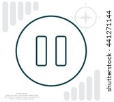 pause vector line icon | Shutterstock .eps vector #441271144
