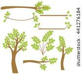 vector set of trees. trees ... | Shutterstock .eps vector #441276184