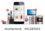 smart home control system  ... | Shutterstock .eps vector #441282031