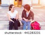 girlfriends having fun together.... | Shutterstock . vector #441283231