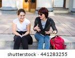 girlfriends having fun together.... | Shutterstock . vector #441283255