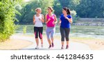 group of women running at... | Shutterstock . vector #441284635