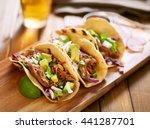 three  pork carnitas street... | Shutterstock . vector #441287701