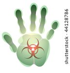 male hand print with any sign... | Shutterstock .eps vector #44128786