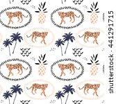 leopard in the frame ... | Shutterstock .eps vector #441291715