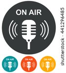on air radio mic microphone... | Shutterstock .eps vector #441296485