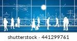 airport terminal  airport... | Shutterstock .eps vector #441299761