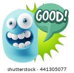 3d illustration laughing... | Shutterstock . vector #441305077