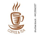 vector vintage logo for cafe... | Shutterstock .eps vector #441306337
