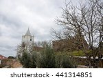 castle and church in the... | Shutterstock . vector #441314851