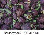 artichokes vegetable background   Shutterstock . vector #441317431