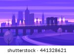 night city landscape with... | Shutterstock .eps vector #441328621