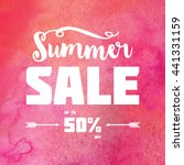 summer sale banner. white... | Shutterstock . vector #441331159