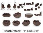 set rattan furniture... | Shutterstock . vector #441333349