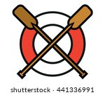 vector illustration oars. water ... | Shutterstock .eps vector #441336991