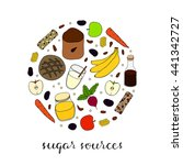 hand drawn sugar sources in...   Shutterstock .eps vector #441342727