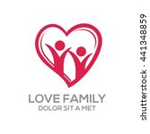 creative love family logo with... | Shutterstock .eps vector #441348859