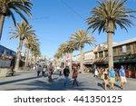 hermosa beach  los angels  usa... | Shutterstock . vector #441350125