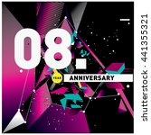 8th anniversary logo with... | Shutterstock .eps vector #441355321
