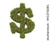 grass letter z isolated on... | Shutterstock . vector #441376081
