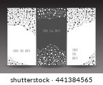 set of save the date cards.... | Shutterstock .eps vector #441384565