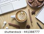 top view of working space... | Shutterstock . vector #441388777
