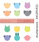 vector   animal head template | Shutterstock .eps vector #441391921