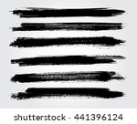 hand drawn brushes.grunge brush ... | Shutterstock .eps vector #441396124