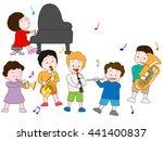 the concert of children. | Shutterstock .eps vector #441400837