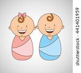 happy kids design  | Shutterstock .eps vector #441401959