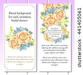 romantic invitation. wedding ... | Shutterstock .eps vector #441405061