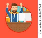 a successful business man... | Shutterstock .eps vector #441405361